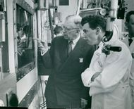 The King visits the Atomic Energy Research Station in Studsvik