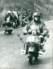 Mods leave for home after their rally at Yarmouth.