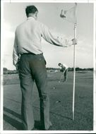 After a rainy, day the sun came out last night as if the clouds had never been there,and the pitch and putt course at Eaton attraced as would-be Tony Jacklit.