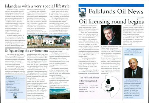 The Falkland Islands oil licensing round.