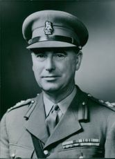 Close up of former British Service Chiefs Brigadier C.A.I. Suther. C.B.E.