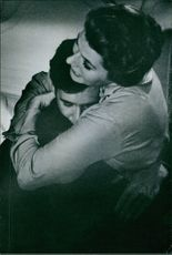 """A scene from the film """"Goodbye Again"""" casting by Anthony Perkins and Jessie Royce Landis, 1960."""