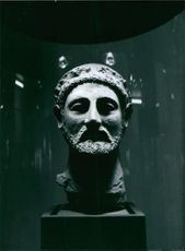 Bust of Piereides on display at the Mediteranean Museum in Stockholm, Sweden