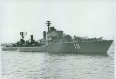 The destroyer HMS Småland (J19) Swedish fleet fully equipped missile destroyers