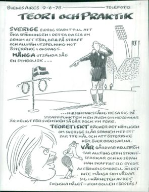 Football. World Cup 1978 Argentina. Caricature Series by Teck Anders