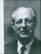 Portrait of former British Prime Minister Harold Macmillan. 1959
