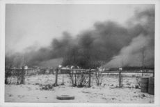 War damage Finland 1940 The war in Finland Pictures of a special photographer on the Northern Front A French village was set on fire by Russian aviation