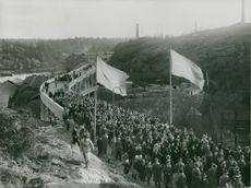 From the opening of the new bridge at Kvarnholmen