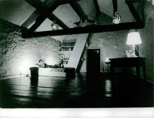 The attic of a house. October 23, 1962