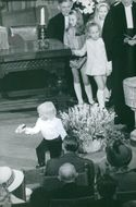 All eyes and attention to Prince Maurits, son of Princess Margriet and Pieter van Vollenhoven, Jr., as he plays with his toy car, 1970.