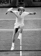 Ray Moore in action during the Stockholm Open 1977