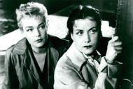 "Simone Signoret and Vera Clouzot in Henri-George Clouzot's movie ""The Devilish"""