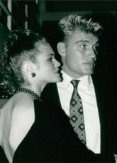 Dolph Lundgren and paula barbieri.