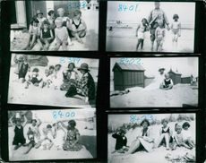8308-8403 All pictures been taken in Berck Plage in 1925.8308. in back row 1.tor. Mrs. Foufoni, Princess Sphie, Miss Roosie, Princess . Front row l. to r. Helen and Jean Foufoni and Prince Philip. 8309 l. to r. princess Cecil, Jean Foufoni, Prince Philip,