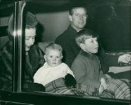Queen Elizabeth II, Prince Philip, Prince Edward and Prince Andrew.
