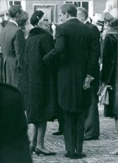 Claus von Amsberg with his mother.