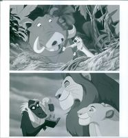 Different scenes from the film The Lion King, 1994.