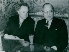 Chairman of the USSR council of ministers, Alexei Kosygin with Secretery general of the united Nations U Thant at 1968.