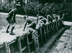World War 1 Scene, Trench Warfare Training, 1983
