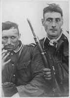 Two German soldiers posing for the camera.  - 1941