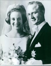 Richard, 6th Prince of Sayn-Wittgenstein-Berleburg and Princess Benedikte of Denmark's wedding. 1968