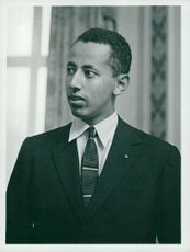 Prince Desta at the Ethiopian Embassy in London