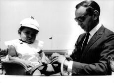 King Hassan II of Morocco with his daughter.