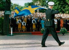 The royal family celebrates the Swedish flag's day at Skansen.