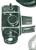 """Director and camera designer Victor Hasselblad's camera """"Hasselblad 500 EL"""" used in the first month landing."""