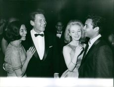 """Jill Haworth and Sal Mineo casts of the 1960 epic film """"Exodus"""" at Cannes Film Festival in 1961."""
