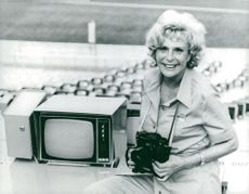 Leni Riefenstahl, photographer, here at the Olympic Stadium in Munich