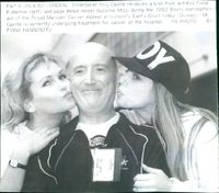 Ray Castle, actress Fiona Fullerton and and page three model Suzanne Mizzi.