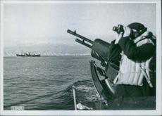 Italian war unit escorts a convoy directly to North Africa.