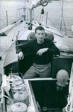 A man in ship. 1964