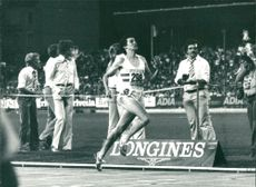 Sebastian Coe takes record of 1 5000 meters