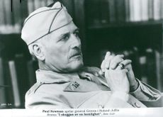 """Actor Paul Newman as General Groves in the movie """"In the Shadow of a Secret"""""""