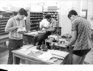 Four worker are working in their office, Israel