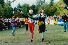 Sara Wedlund won the Liding Race and gets her victory victory