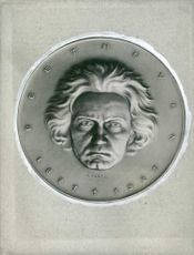 coin Ludwig van Beethoven sculpted on it.