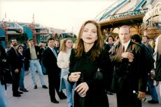 Ornella Muti at the inauguration of Disneyland in Paris.