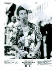 "Jim Carrey as Ace Ventura in the film ""Ace Ventura: When Nature Calls"", 1995."
