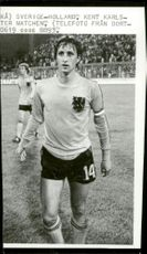 Match between Sweden - Holland: Johan Cruijff