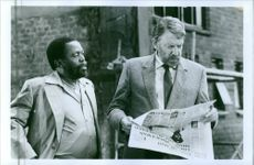 "Zakes Mokae and Donald McNicol in the movie, ""A Dry White Season""."