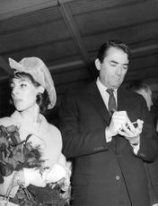 Gregory Peck with wife Veronique Peck during the 18th Cinematographic Festival de Canes.