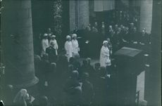 Other royalties during the funeral of Wilhelmina of the Netherlands, 1962.