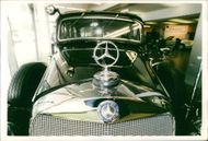 Motor car marcedes:The badge and radiator.