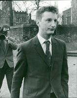 Pop singer Billy Bragg in Norwich yesteraa, his appearance in court