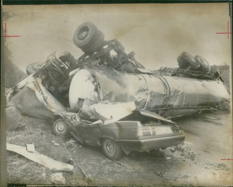 road accidents: the freak crashed.
