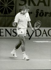 American tennis player Bob Lutz