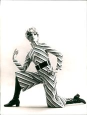 Evening Dress and Trouser Skirt From E's Gold Splash and Cat Boot From Pierre Robert for 1960s Fashion